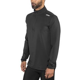 2XU XVENT 1/4 Zip Longsleeve Shirt Men black/black